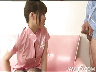 Rip her pantyhose - Ririka suzuki has a hole ripped in her pantyhose so that her