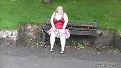 Stranger picks up huge boobs fatty