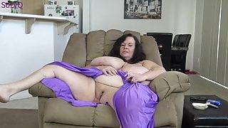 BBW Huge Boobs Smoking Mature MILF Masturbates