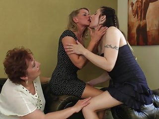 Old and young lesbian Perfect old and young lesbian threesome
