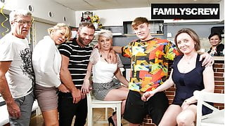 Family Deflowers Virgin StepSon in a Bar