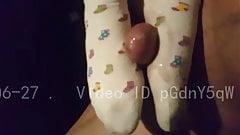 Дрочка ногами
