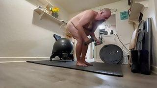 DavieBear Workout Nude