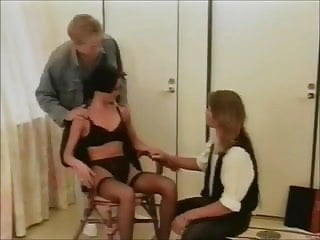 Sex three some video Swedish classic three-some shorthaired lady