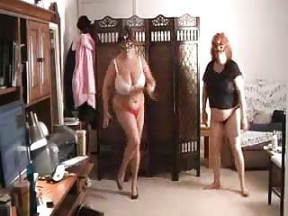 Dance erotic wear - Matures wearing tanga and dancing