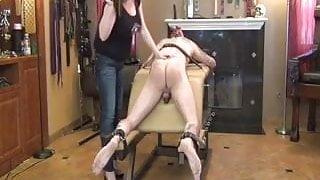 strapon spanked