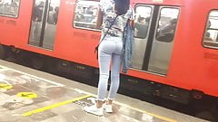 Perfect little butts in jeans, metro