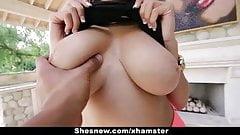 ShesNew - грудастая и застенчивая тинка Cassidy Banks хочет трахаться