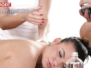 Erotic tights - Letsdoeit - erotic massage leads to cum-swapping threesome