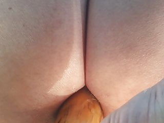 Wooden punishment pony dildo - My pretty wooden dildos penetrates my asshole