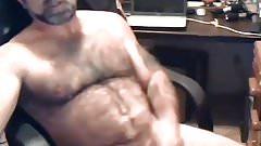 Sexy tattooed bear cumming