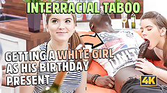 BLACK4K. Evelina Darling calls all friends but comes only