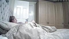 pregnant blonde caught masturbating (IP cam)