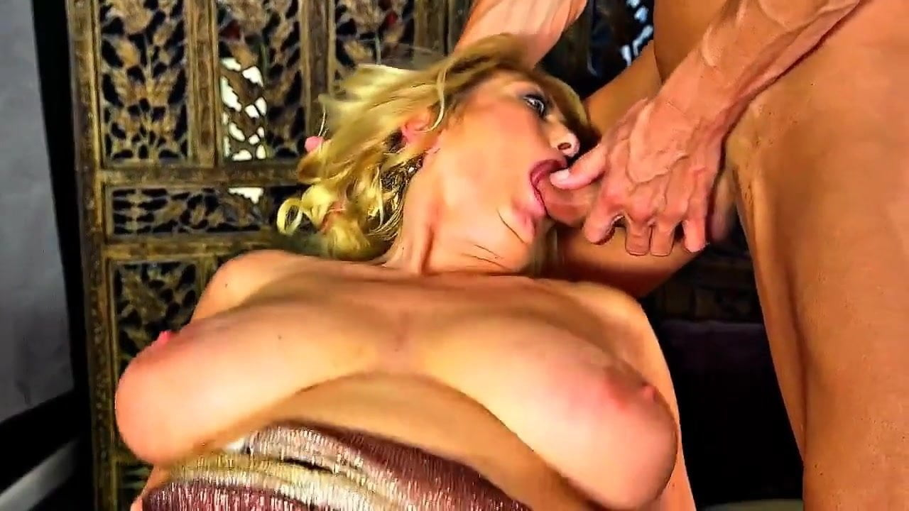 Big titted German mature gets fucked in a threesome