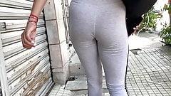 Jiggle Booty . Latina Yoga Pants (SlowMo)