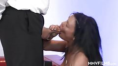 German MILF porn casting