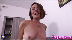 Naughty mom Ania gets young cock in all holes