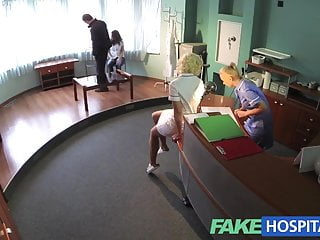 Dog tongue and pussy - Fakehospital naughty nurse heals patient with her tongue