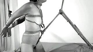 Tied up nonstop orgasm - REAL NIPPLES ORGASM