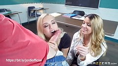Jordi el Nino with 2 blondes, school sex