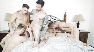 JizzOrgy Gaymates Cliff Jensen, Jordan Levine, Paul Canon, J