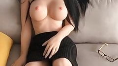 gay Slutty Asian Sex Doll Topless Horny For Rough Hardcore Fuck pissing