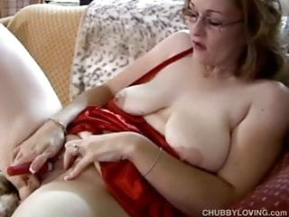 Nice big juicy pussy Frigging cute chubby milf has nice big tits and a fat juicy