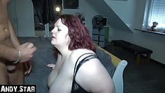 WIFE PISSED IN JIZZ MOUTH