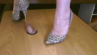 solid steel heels (including the tips) crush his cock