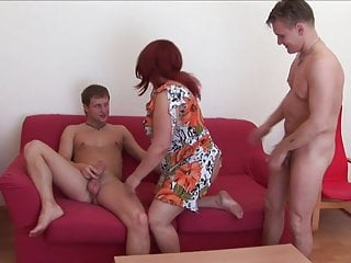 Tube videos russian threesome young cock Lora