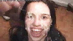 Sarah, cum on her face