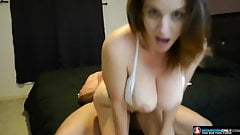 Slut MILF asks her neighbor to fuck her hard