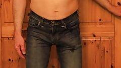 tight jeans rubbing my cock