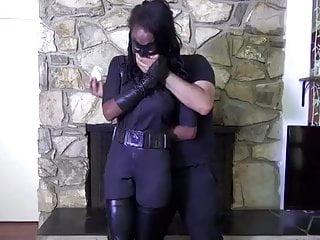 Fuck superheroines - Ebony superheroine bound