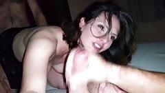 Amateur Threesome brunette