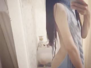Naked students party - Amateur japanese student wool top naked back vine