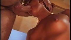 Small tit slut sucks cock clean