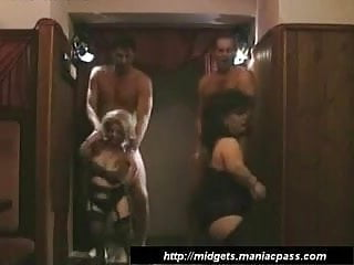 Nude midget sex Group sex with two midgets