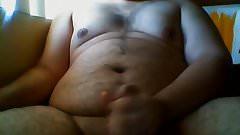 Chubby Guy Cums on Himself