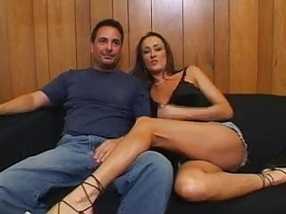 Sexy wife fucking Hubby brings stranger to fuck his sexy wife and joins in