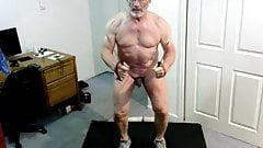 Grandpa nude work out
