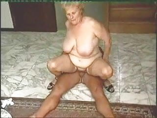 Old man and old lady having sex