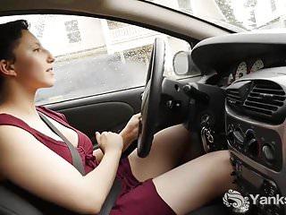 Vibrator while driving Hot jenny orgasming while driving