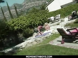 Having trouble achieving orgasm Hot blonde milf having trouble swallowing big cock