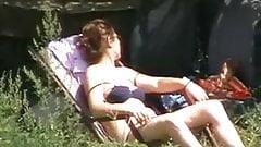 Mom in garden - Mama u dvoristu