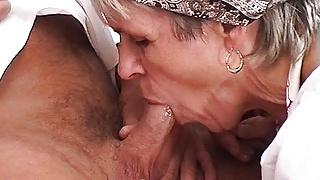 73 year old farmer's stepmom needs rough sex