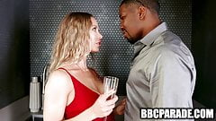 Hot Wife Entertains Absent Husband's BBC Coworker in the Shower
