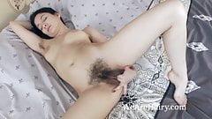 Bellavitana strips and masturbates in her bedroom