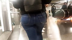 French Arab Girl Big Ass in jeans