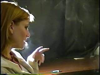 Smoking fetish matures - Vintage blonde cutie smoking fetish